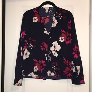 A New Day faux wrap floral blouse